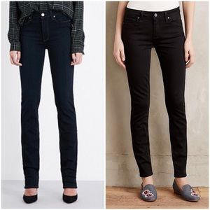 Black Paige Verdugo Ankle Over Black Skinny Jeans